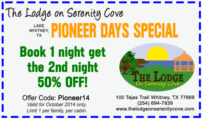 Pioneer Days Coupon